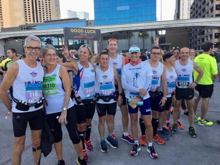 coureurs au départ du marathon de Las Vegas