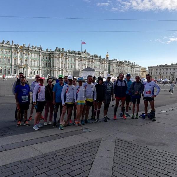 Départ du marathon de Saint Pétersbourg