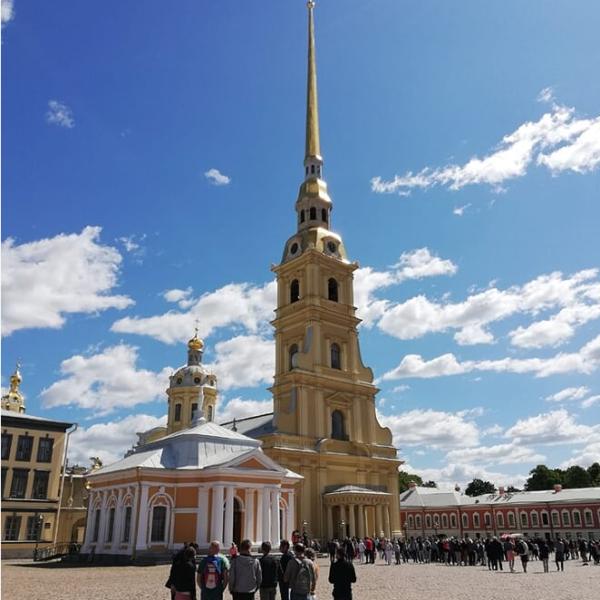 sportifs à la découverte de saint Pétersbourg