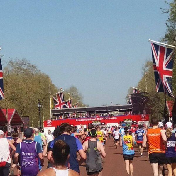 Arrivée du marathon de Londres