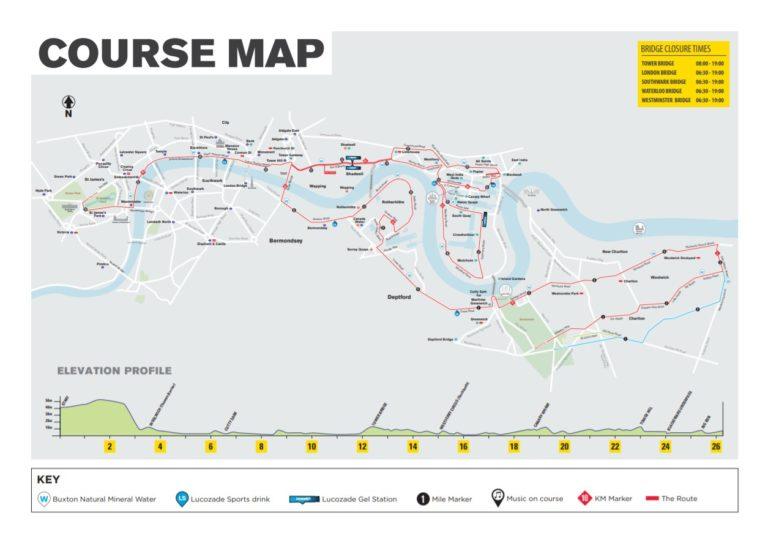Parcours London marathon