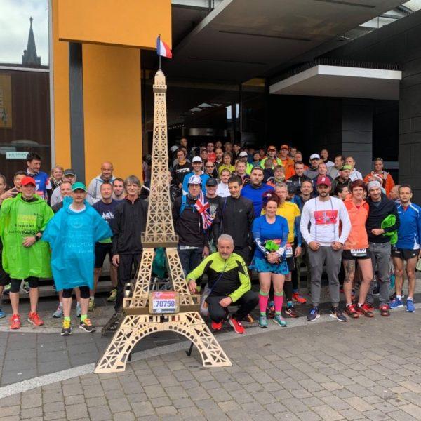 Prêt pour le départ du marathon de Londres