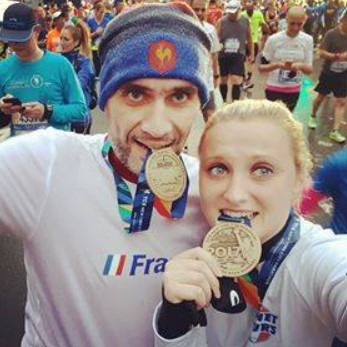 Heureux coureurs du marathon de New York