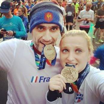 Heureux coureurs du marathon de New York