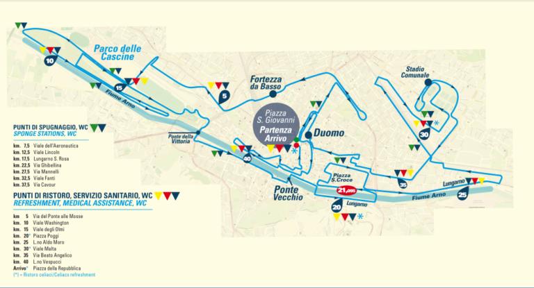 Parcours du marathon de Florence