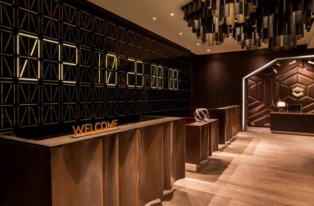 Réception hôtel W Time Square