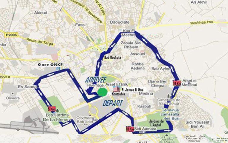 Parcours-du-semi-marathon-de-Marrakech