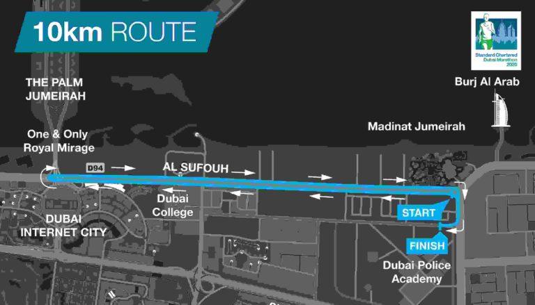 Parcours des 10km de DUBAI
